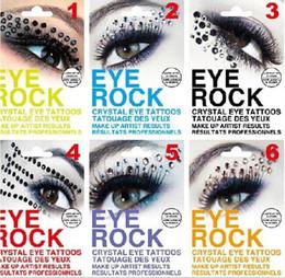 disegni di arte 3d Sconti Eye Rock Ombretto Adesivo Eyeliner Tattoo Eyerock Occhi Occhio di cristallo Adesivi Strass DIY Art 3D TATUAGGI OCCHI 6 Colori da DHL Free