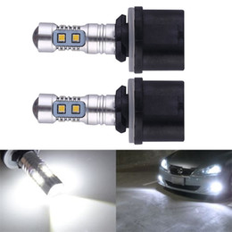 Wholesale Led Projector Fog - PW24W 10SMD 10W HID White 880 H27 PG13 899 890 for CREE Projector LED Bulbs For Auto Car Fog Lights Driving Daytime Running lamp