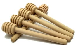 Wholesale Wood Stick Kitchen - Wooden Honey stick Dippers honey stir Honey rod Honey dipper 8 cm kitchen tool