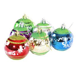 Wholesale 6cm Blue Christmas Ball - 6cm Christmas Ball Bright Matt powered Finished Balls 6 pcs A Lot Plastic Beads For Christmas Decoration Wedding Party Product Code :95-1032
