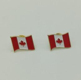 Trasporto libero del DHL Monili all'ingrosso del metallo di modo dei monili del Canada Canada Flag Distintivo per le decorazioni di Natale da bandiere di natale all'ingrosso fornitori