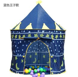 Wholesale Child Princess Tent - Prince and Princess Palace Castle Children Playing Indoor Outdoor Toy Tent colors mixed
