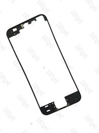 Wholesale Iphone Mid Frame Black - 10pcs Front Bezel with hot glue Middle Frame for iPhone 5s 5c 5G 6 4.7 6 Plus 5.5 inch Black white Mid Frame Chassis Bezel Touch Screen LCD