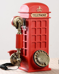 Wholesale Wall Hung Telephone - Retro phone fashion creative, wall hanging personalized home new European style antique rotary disk telephone
