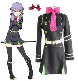 Wholesale Game Ends - Anime Seraph Of The End Owari no Seraph Hiiragi Shinoa Cosplay Costumes Full Set Uniform