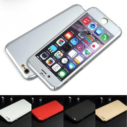 Wholesale Iphone Back Covers Unique - 2016 360 degrees totally protection Unique 2 in 1 back Case Cover for iPhone 6 6S 4.7 for iPhone 6 Plus 5.5 + screen glass
