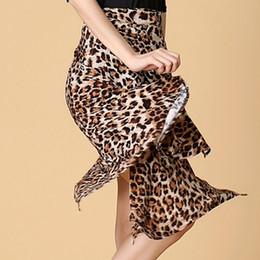 Wholesale Dance Practice Skirt - Lady Latin Dance Skirt For Sale Red Black Leopard Cha Cha Rumba Samba Tango Dresses For Dancing Practice Performamnce Dancewear