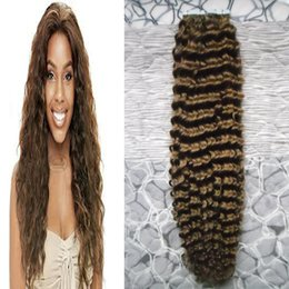 Wholesale Hair Extensions Tape Curly - Brazilian Human Tape in kinky curly Skin Weft 100% Human Hair Tape In Hair Extensions #4 Dark Brown tape in human hair extensions 100g 40pcs