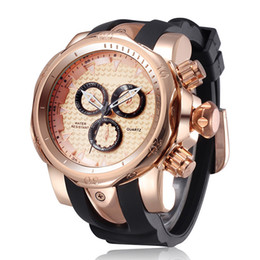 Wholesale Design Batteries - 2016 Famous design Fashion Men Big Watch Sport Watch High Quality Male Quartz watches Man Wristwatch