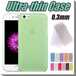 Wholesale Casing Iphone 4s Transparent - 0.3mm Ultra Thin Matte Frosted Transparent Clear Soft PP Cover Case Skin For iPhone 7 6 6S Plus 4.7 5.5 inch 5 5S 4 4S Free Ship MOQ:50pcs