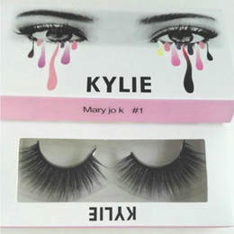 Wholesale Hot Extensions - HOT kylie cosmetics High Quality False Eyelashes Handmade Natural Long Thick Mink Fur Eyelashes Soft Fake Eye Lash extensions Black Terrier