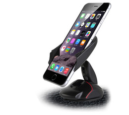 Wholesale Galaxy Car Cradle - Newset Windshield Dashboard Car Phone Stand Holder One Touch Mouse Suction Cup Cradle For iphone 6 Plus Samsung Galaxy S7 Edge
