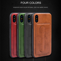 Wholesale Tpu Materials Design - For Apple iPhone X 8 7 6 Plus TPU+PC+PU Material Luxury Leather Card Bracket Car Protective Cover Creative Design For Samsung S8 Plus