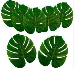 farbe feder strauß Rabatt Künstliche Palmblätter Hawaiian Luau Thema Party Dekorative Palmblätter für Hochzeit Dekoration Weihnachten Neujahr G1088