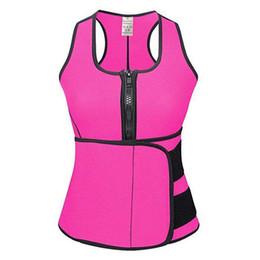 Wholesale Wholesale Sweat Vest - 50pcs Neoprene Sauna Waist Trainer Vest Hot Shaper Workout Shapewear Slimming Adjustable Sweat Belt Body Shaper S-3XL Free Shipping AP31