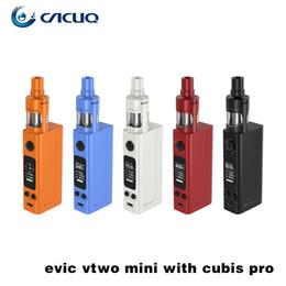 Wholesale New E Cigs - Joyetech Evic Vtwo Mini with Cubis Pro Kit 75W New Firmware 100% Original e cigs Vape pen