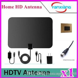 Wholesale Antenna Cable Coaxial - 1pcs 1byone 50 Miles Amplified HDTV Antenna with USB Power Supply and 20 Feet Coaxial Cable - White Black YX-TX-1
