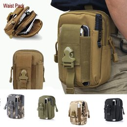 Wholesale Service Camps - EDC Pouch Utility 5 Colors Camo Bag Military Nylon Tactical Waist Pack Joging Bag Outdoor Essential Best Service E595E