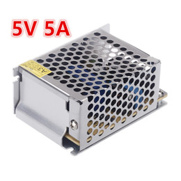 Wholesale Equipment For Led - Small Order 5PCS Voltage Transformer 5A 25W AC100V-240V to DC5V Switch Power Supply for Led Strip LED Equipment