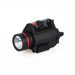Wholesale Red Led Flashlight Bulbs - new arrival 3W-H2 aluminum M6R flashlight with red laser lumens 180LM Bulb CREE Q5 FREE SHIPPING CL15-0096