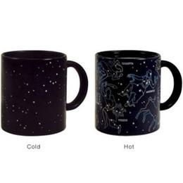 Wholesale Heat Sensitive Ceramic - Constellation Star Color Changing Heat Temperature Sensitive Coffee Mug Change Colour Coffee Cups Creative Ceramic Mugs CCA7694 48pcs