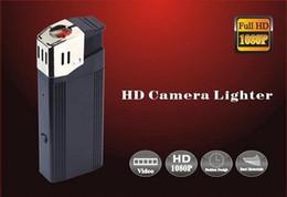 Wholesale Mini Hid Flashlights - Full HD 1080P spy lighter camera with flashlight mini lighter camera U Disk spy hidden pinhole camera real lighter mini DVR black V18