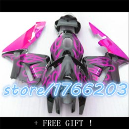 Wholesale Pink Painting Motorcycle - custom paint motorcycle fairings kit for 2005 2006 F5 CBR 600 RR CBR600RR 05 06 black pink fairing parts