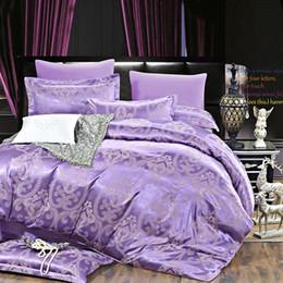 Wholesale Luxurious Jacquard - Wholesale-2016 New Autumn home bedding set Jacquard duvet cover set 4pcs bed linens luxurious bedclothes queen king size adult bed sets