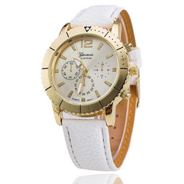 Wholesale GENEVA GENEVA ms color watches Leisure belt female wrist watch Quartz watch spot