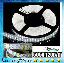 Wholesale Holiday Outlet - Factory Outlet SMD 5050 120p m 5m roll 600 LED DC 12V non- waterproof double row flexible strip light,LED strips, white warm white lighing