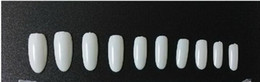 Wholesale Acrylic Oval Nail Tips - 250sets 500 Oval Nails Tips Round Fullwell White Color Tips False Nail Art Tips Wholesales