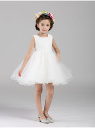 Wholesale Wedding Clothes For Children - Girl Dress Kids Wedding Bridesmaid Children Girs Dresses Summer 2016 Evening Party Princess Costume Lace 1-10 Years Girls Clothes For Birthd