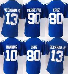 Wholesale Giants Rugby - 2017 white Blue New York New Womens Rugby 13 Odell Beckham Jr 10 Eli Manning 90 Pierre-Paul 56 Lawrence Taylor Giant#10 jerseys