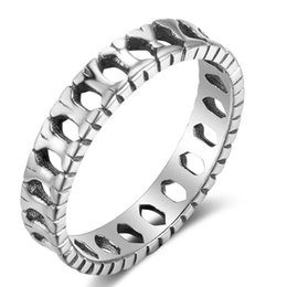 Wholesale Bone Finger Rings - New Style 925 Sterling Silver Bone Rings Casual Finger Rings Charms Promise Engagement Rings For Women