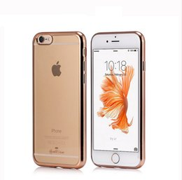 Wholesale Galaxy S3 Rubber Phone Case - Clear Crystal Rubber Plating TPU case For iphone SE 5 5s 6 6s plus Galaxy s3 s4 s5 s6 s7 note 4 5 Electroplating back cover soft phone case