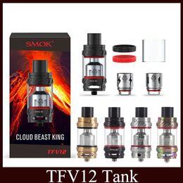 Wholesale Box King - TFV12 Tank Beast King 6.0ml Top Refilling Sub Ohm Vape Atomizer 27mm Diameter E Cig For Box Mod vs SMOK tfv8 baby
