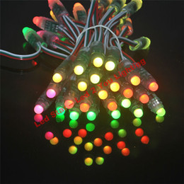 Wholesale Led Module Light Strings - 12mm WS2811 Led Pixel Module,IP68 Waterproof DC5V Full Color RGB string christmas LED light For Billboard Free Shipping