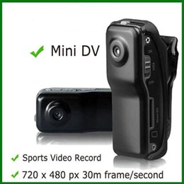 Wholesale Motorbike Dvr - MD80 Mini DV Camcorder DVR Video Camera Webcam Support 16GB HD Cam Sports Helmet Bike Motorbike Camera Video Audio Recorder with retail box