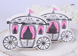 Wholesale Cinderella Carriage Candy Boxes - Cinderella Enchanted Carriage Marriage Box Wedding Favor Gift boxes Candy box