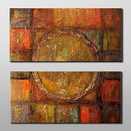 Wholesale Textured Oil Paintings - Thick Textured 2pcs Hand painted Abstract Canvas Oil Painting Wall Art Gift for Home Living Room Decoration,CX2005