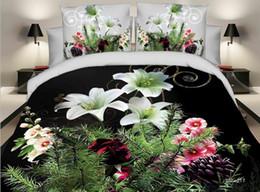 Tessili per la casa 3D bello stampa Reattiva cotone 4 pezzi set di biancheria da letto copripiumino duvet / lenzuolo federa biancheria da letto da consolatore di rosa giallo fornitori