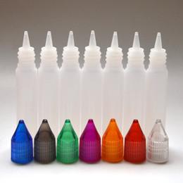 Wholesale Dripper Bottles - E Cigarette E Liquid Unicorn Dropper Bottle Dripper Plastic Empty Pen Style Long Silm 10ml Bottle with Colorful Cap