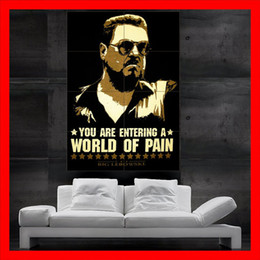 Wholesale The Big Lebowski Poster giant Dude John Goodman walter Sobchak you are entering a world of pain parts NO414