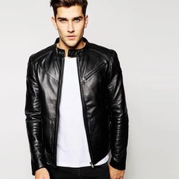 Wholesale Genuine Suede Jacket - Fall-Leather suede sheepskin coat men genuine leather jacket fashion single leather coat short high end top quality New Phoenix