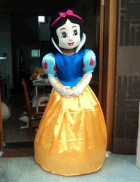 Wholesale Snow White Costume Mascot Fancy - High quality adult size Snow White Crtoon Mascot Costume Fancy Dress Cinderella Mascot costumes Free Shipping
