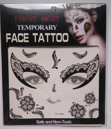 Wholesale Smiling Ball - Christmas party Facial day of the dead faced smile face tattoo Halloween and masquerade ball pretty tattoo sticker waterproof faced tattoo