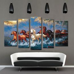 grande impressão da arte das canvas do cavalo Desconto Espírito Up Art Grande Correndo Cavalos, Pintura Da imagem na Cópia Da Lona sem Emoldurado, Modern Home Decorations Wall Art