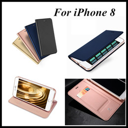 Wholesale Wholesale Photo Frame Stand Backs - For Iphone 8 Plus Stand Case Back Cover Pouch With Card Pocket Photo Frame with Retail Package 4 Fashion Colors Dhl free