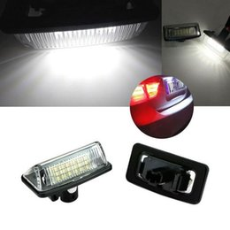 Wholesale Toyota Led License Plate Lights - newest no error 2x 18SMD LED Number License Plate Light Lamp fit For Toyota Crown 2003-2009
