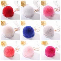 Wholesale Mirror Ball Ornament - High quality Small gift make - up mirror new hair ball mirror key ring car bag ornaments pendant KR364 Keychains mix order 20 pieces a lot